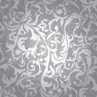Silver Floral Wallpaper | Via Wallpaper Design Tagged by