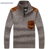 Male Pullovers Half Turtleneck Knitwear Sweaters Men' s Sweaters Winter Classic Pullovers