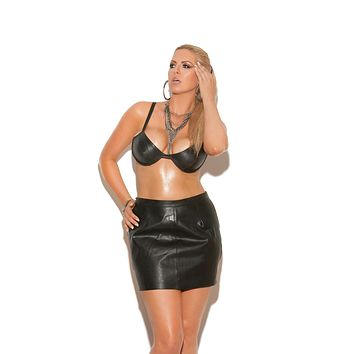 Elegant Moments Leather Bra