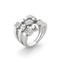 Bulgari Women's Bulgari 3 Row Lucia Diamond Ring - White - Size 5.75