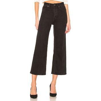 Free People Wales Wide Leg Jean Black