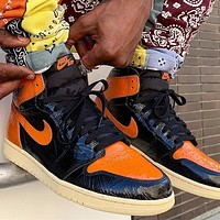 Nike Air Jordan 1 Retro High Shattered Backboard Basketball Shoes Sneakers