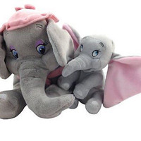 "disney parks baby dumbo plus 15"" mrs. dumbo mother plush new with tag"