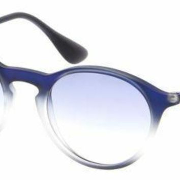 New Ray Ban RB4243 622519 49MM Round Blue Gradient Lens Sunglasses ITALY