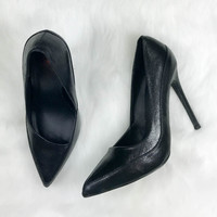 Money Honey Black Liquid Heels