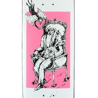 """Welcome Self Portrait on Moontrimmer 2.0 Skateboard Deck - White/Pink - 8.50"""""""