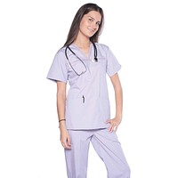 Women's 2 Piece Designer Unique Medical Scrubs