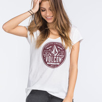 Volcom Sheckler Liberation Womens Tee White  In Sizes