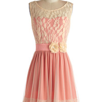Ryu Mid-length Sleeveless A-line Home Sweet Scone Dress in Rose