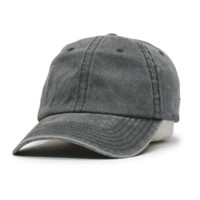 Washed Cotton Twill Baseball Cap with Adjustable Velcro
