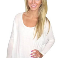 Forever Fall Top- Ivory