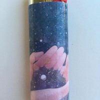Space in hands custom BIC lighter
