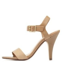 Texture Block Single Strap Heels by Charlotte Russe