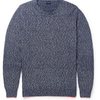 PS by Paul Smith - Flecked Knitted Cotton Boucle Sweater   MR PORTER