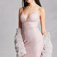 Two-Toned Glitter Slip Dress