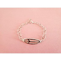 Silver Peace Sign Anklet
