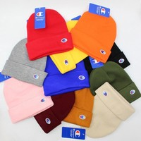 Champion Knit Korean Embroidery Couple Hats [429893419044]