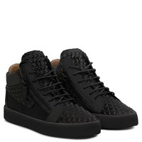 Giuseppe Zanotti Gz The Manhattan Black 3d Calfskin Leather Mid-top Sneaker - Best Deal Online