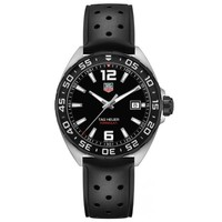 Men's TAG Heuer FORMULA 1 Black Dial and Rubber Strap Watch