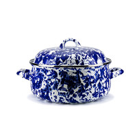 I liked this design on #Fab. Enamelware Dutch Oven Cobalt
