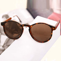 Leopard Celebrity Retro Sunglasses
