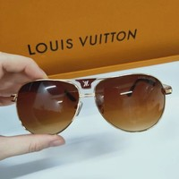 LV Louis Vuitton street fashion men's retro shade driving polarized sunglasses