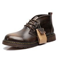 Industrial Styled Leather Chukka Boots