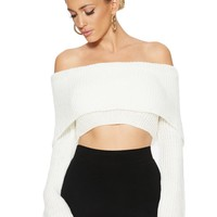 Just Own Knit Crop Sweater - Tops - Womens