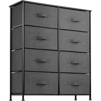 8 Drawer Dresser Organizer Fabric Storage Chest for Bedroom