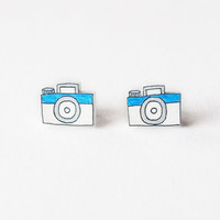 Little Cameras Stud Earrings - Made To Order