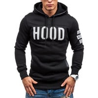 Sweatshirts Men    Slim hoodies men Warm Pullover Sweatshirt Hooded Outwear Tops Male sudaderas hombre &23 GS