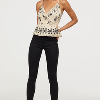 Skinny Regular Ankle Jeans - Black denim - Ladies | H&M US