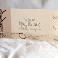 Tying the Knot Save the Date Set of 65 • Rustic Save the Date • Knot Wedding Invitation • Tree Save the Date • Stationary • Save Our Date