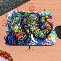 elephant Black Background Best Custom Mousepads Rubber Pad 18*22cm and 25*29cm And 25*20cm No Lock Gaming Mouse Pad