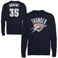 Majestic Kevin Durant Oklahoma City Thunder Player T-Shirt - Navy Blue