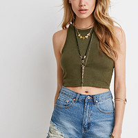 High-Neck Crop Top