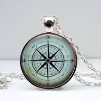 Blue Compass Necklace