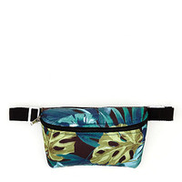 Jungle Leaves Print Fanny Pack