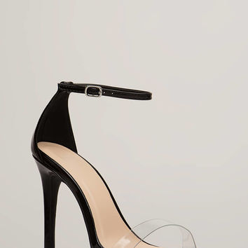 Clearly Stunning Ankle Strap Heels