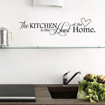 Kitchen is the Heart of the Home Removable Wall Sticker