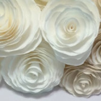 Floral backdrop, Paper filter flowers in colors of your choice and assorted sizes,  Wedding backdrop, Photo backdrop, Wall paper flowers