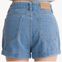 Shorts Women Vintage Solid Color Denim Punk Shorts Female High Waist Shorts Summer Feminino Plus Size Casual Women Short Jeans