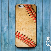 iPhone 4 4s 5 5s 5c 6 6s plus + iPod Touch 4th 5th 6th Generation Cute Baseball Ball Texture Leather Sport Cool Phone Cover Boy Guy Fun Case