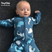 Infant Jumpsuit Long Sleeves Floral Romper Baby Boy Girl Clothes Tiny Cottons New Born Toddler Onesuit Overall Outfit Pajamas