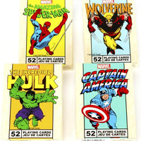 Marvel Characters Playing Cards _ Assort #1 _ 4 Unique Decks