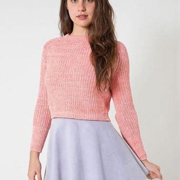Long Sleeve Knit Fisherman Cropped Sweater
