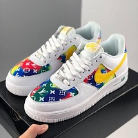 LV X Nike Air Force 1 Low-top Casual Running Shoes