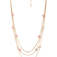 FOREVER 21 Pastel Perfect Necklace Gold/Pink One