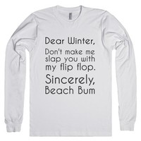 Dear Winter-Unisex White T-Shirt