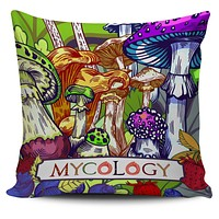 Colorful Mycology Pillow Case